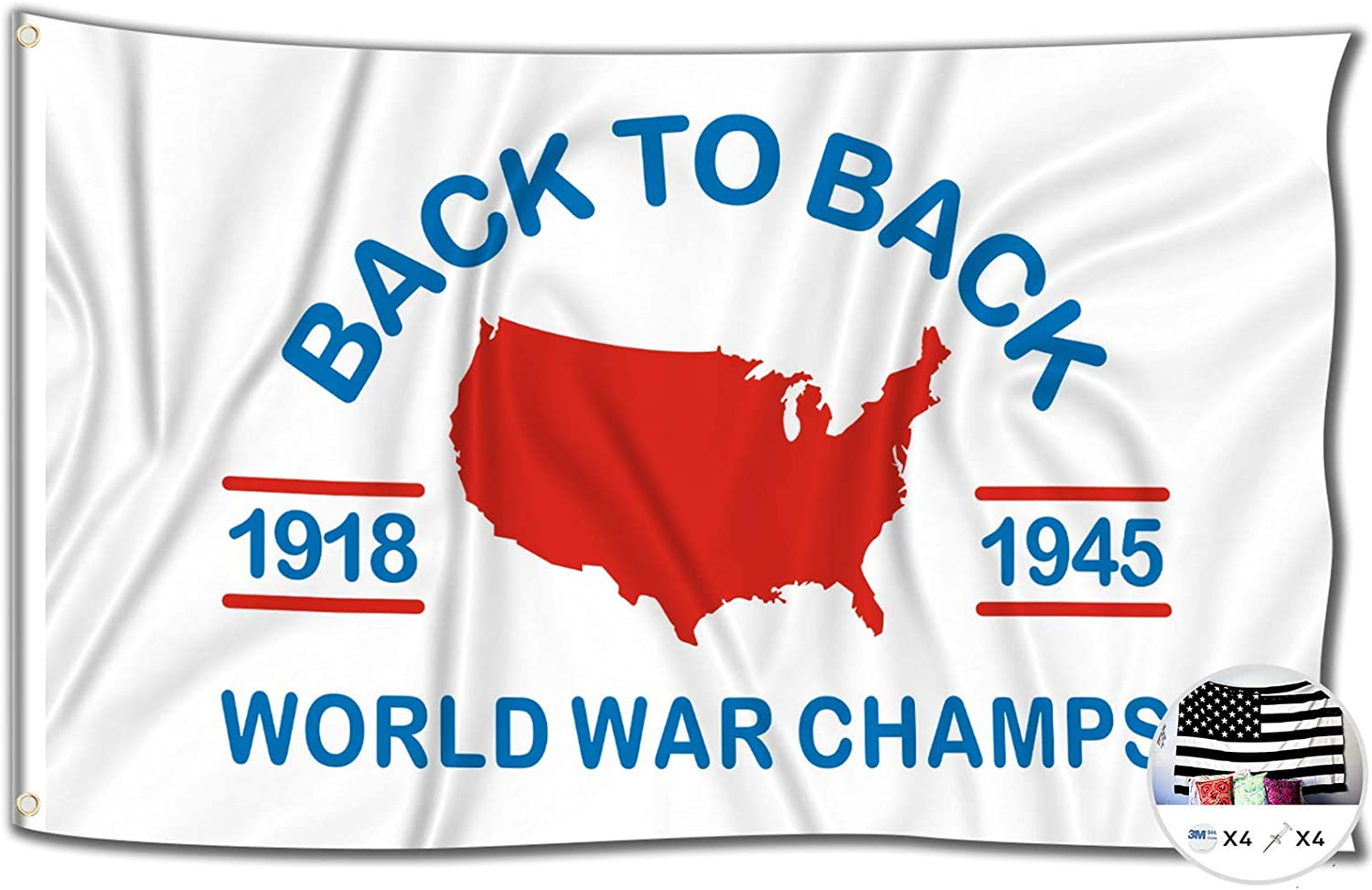 World Dallas Mall Max 82% OFF War Champs Flag 3x5 Feet Funny to Poster Back Banner
