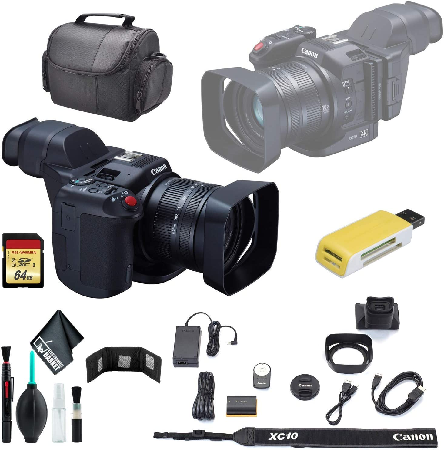 Canon XC10 4K Professional Camcorder Factory outlet Soft Case USB + OFFicial shop Carrying