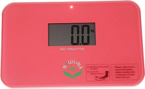 "NewlineNY Auto Step On Super Mini Travel Bathroom Scale, 5.25"" x 8.5"" SBB0638SM (Strawberry Ice)"