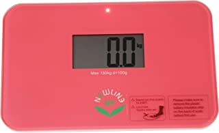 "NewlineNY Auto Step On Super Mini Travel Bathroom Scale, 5.25"" x 8.5"" SBB0638SM (Strawberry Ice)"