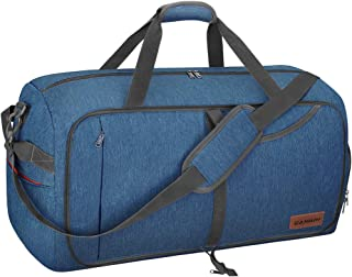 85L Travel Duffel Bag, Foldable Weekender Bag with Shoes Compartment for Men Women Water-proof & Tear Resistant
