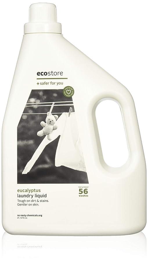 カップファックス下手ecostore(エコストア) ランドリーリキッド 【ユーカリ】 大容量 2L 洗濯用 液体 洗剤