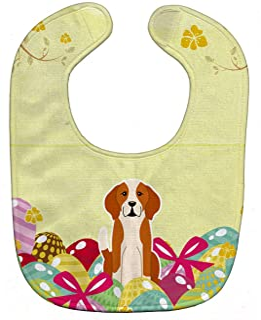 multicolor 10 x 13 Carolines Treasures BB5772BIB Too Cute Boston Terrier Baby Bib