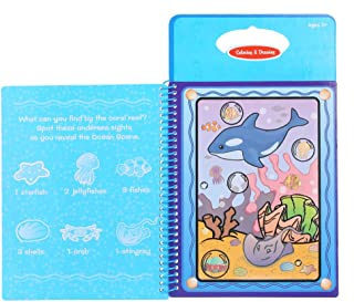Goolsky Non-toxic Magic Water Drawing Book Coloring Book Doodle with Magic Pen Animals Painting No Ink Educational Toy