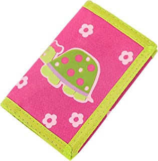 RFID Blocking Cartoon Kids Wallet - Girls & Boys Wallet with Zippered Pocket - Trifold Velcro Wallet for Kids