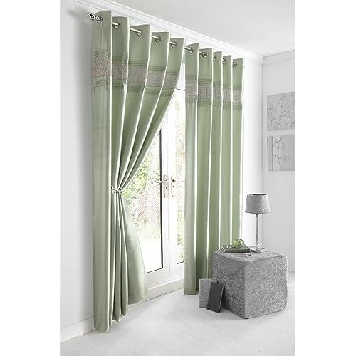 Mint Green Curtains: Amazon.co.uk
