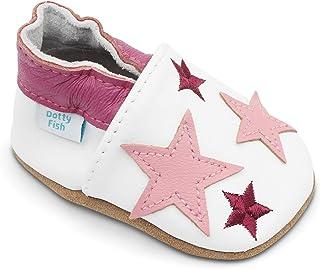 fb106982b6061 Dotty Fish Chaussures Cuir Souple bébé et Bambin. 0-6 Mois - 4-