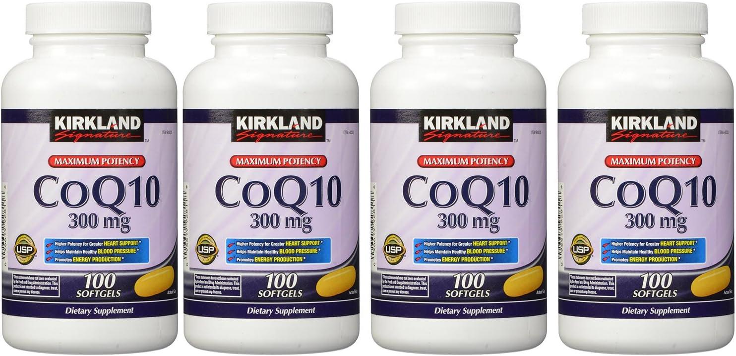 Bombing free shipping Kirkland Signature urglw COQ10 300 mg 100 Pack of Softgels wholesale 4