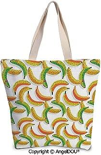 SCOXIXI Star printed Tote Schoolgirl Bag Ladies Shopper Canvas Bags Golden Star
