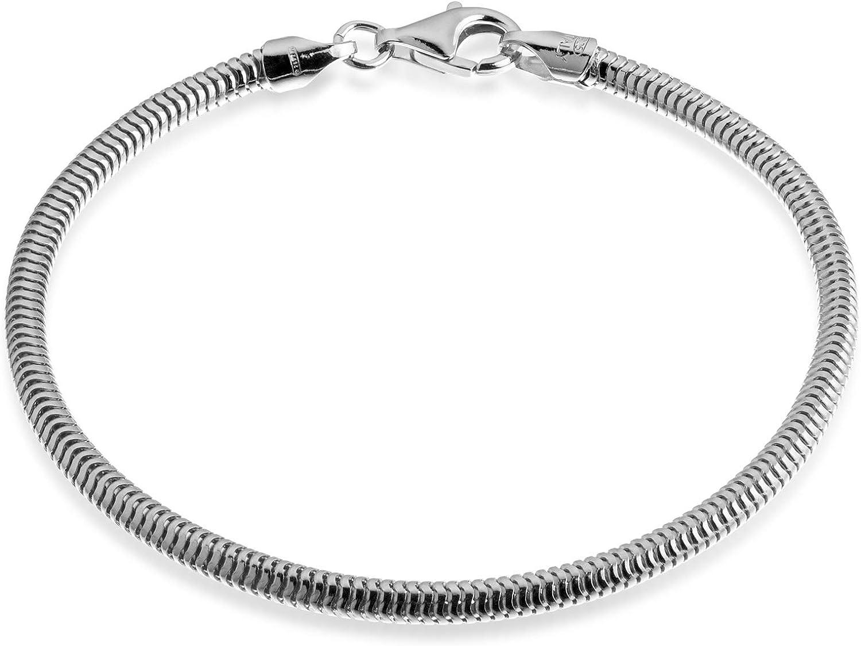 Quadri - Snake Chain Bracelet for Women in Girls Popular brand the world Discount mail order Men Boys St 925