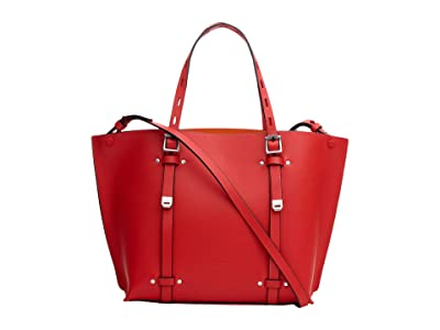 rag & bone Mini Field Tote (Fired Red) Handbags