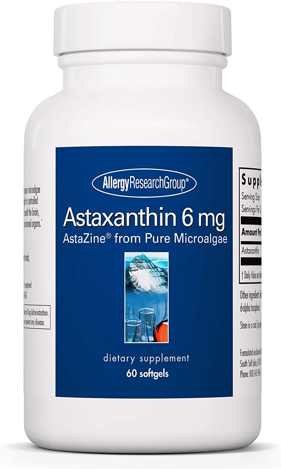 Allergy Research Special price for a limited time Group - Astaxanthin 6 Musc for Brain mg High material Eye