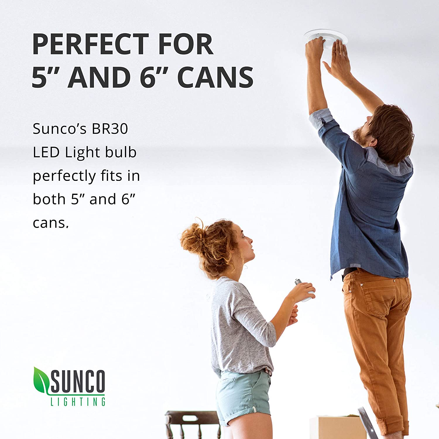 2700K Soft White UL /& Energy Star Sunco Lighting 6 Pack BR30 LED Bulb 11W=65W Dimmable 850 LM Indoor Flood Light for Cans Renewed E26 Base