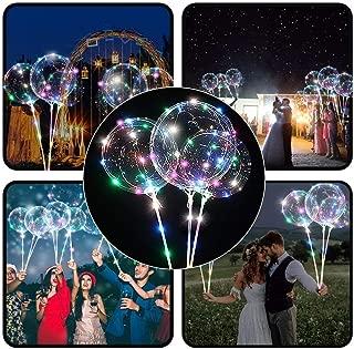 Jeeke Reusable Sparkle Balloons LED Light Balloons Party Wedding Clear Balloons Decoration