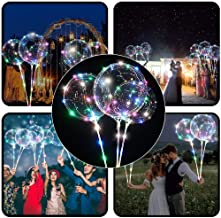 Alelife 2019 Reusable Luminous Led Balloon Transparent Round Bubble Decoration Party Wedding