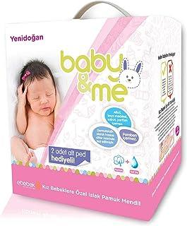 baby&me Yenidoğan Islak Pamuk Mendil Kız 12x40 adet
