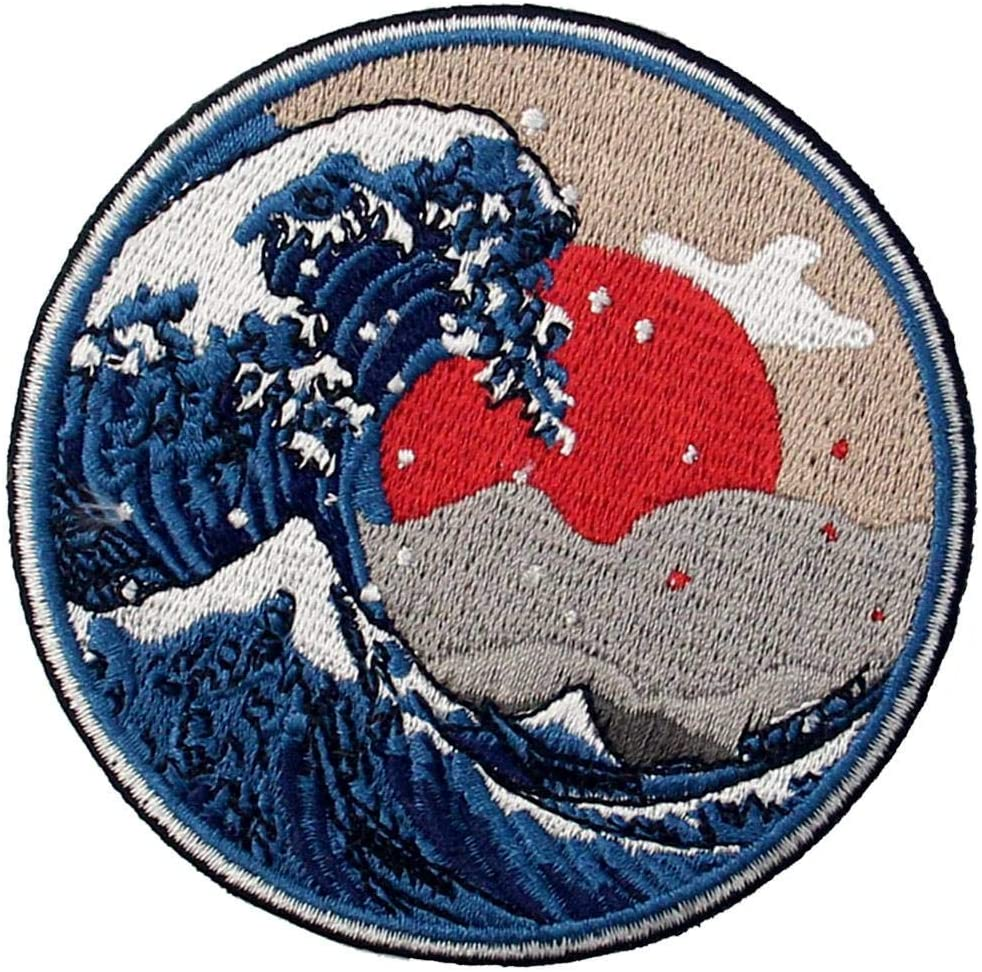 "4/"" The Great Wave Ramen Iron on//Sew on Patch"
