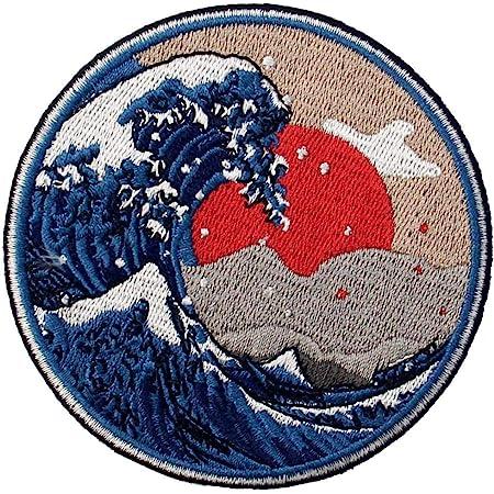 Parche termoadhesivo para la ropa, diseño de Gran ola de Kanagawa