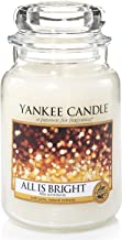 YANKEE CANDLE All is Bright Large Jar Candle, White