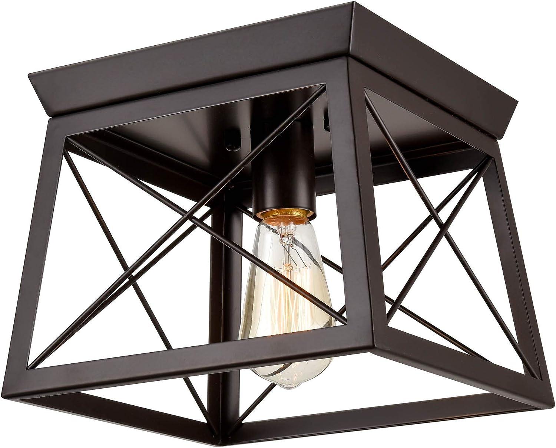 DANSEER Lighting Retro Industrial Ceiling shopping Mount Flush Rectangle High quality