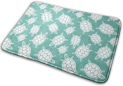 North West Turtles Turquoise Carpet Non-Slip Welcome Front Doormat Entryway Carpet Washable Outdoor Indoor Mat Room Rug 15.7 X 23.6 inch