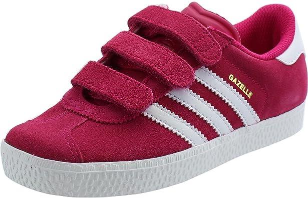 adidas Gazelle 2 Cf Enfant Rose Rose 30 : Amazon.fr: Chaussures et ...