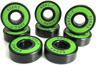 8 8x22x7mm SI-BU ABEC 5 Precision Skate Ball Bearings Rubber Seals