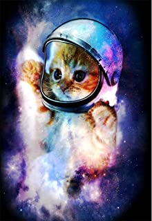 TeeShirtPalace Astronaut Cat in Space Poster (Large (18