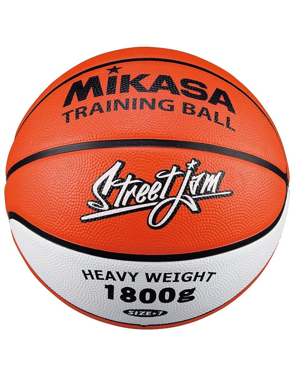 パール散らすすでにミカサ バスケット トレーニング1.8㎏ ゴム オレンジ/白 B7JMTR-O [並行輸入品]
