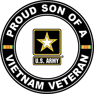 US Army Proud Son of a Vietnam Veteran Decal Sticker