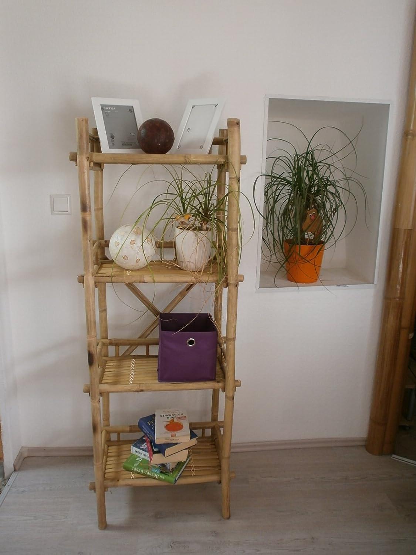 Kien Bambusregal Bücherregal Pflanzregal Schuhregal Bambus