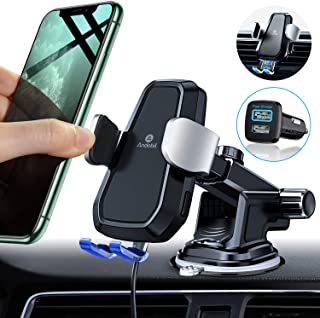 Andobil Automatic Clamping Wireless Car Charger Mount, Qi 10W Fast Charging Air Vent Dashboard Phone Holder for iPhone 11 Pro Max/XS/XR 8 Plus, Samsung Galaxy S10 S9 S8 Note 10/9 (with QC3.0 Adapter)
