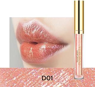 99AMZ Brillo Permanente Barra de labios Con brillo Nacarado Resistente al agua Brillos labiales 24 horas Larga duracion Li...
