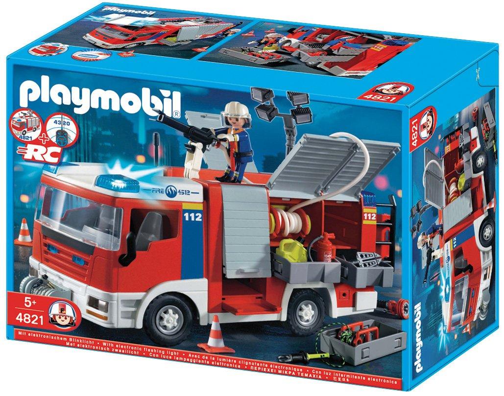 PLAYMOBIL - Camión de Bomberos (4821): Amazon.es: Juguetes y juegos