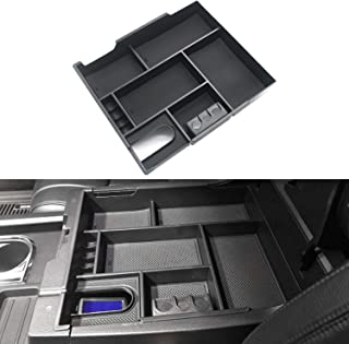 LivTee Center Console Organizer Tray Accessoies Armrest Box Secondary Storage Holder for Toyota Tundra 2014-2019