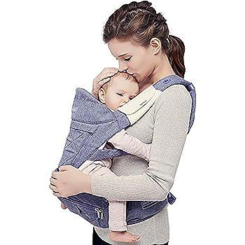 【ベビーアムール】Bebamour 抱っこ紐人気 ベビーキャりア新生児 6way たためるヒップシート 安定性 使いやすさ 前向き抱っこ おんぶ 圧力分散(パープル)