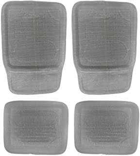 Universal Car Floor Mats Durable Tray Style 4 Set Front/Back Large Non-Skid Grey