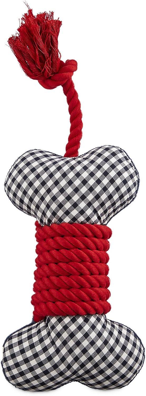 Leaps & Bounds Patriotic Pets Plush & Rope Bone Dog Toy, 9 , Medium