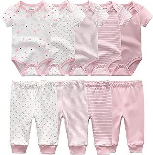 TONE Bodys Kurzarm für Neugeborene Baby Jungen und Mädchen 0-3m/3-6m/6-9m/9-12m Baumwolle 5er Pack