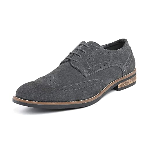3694804c54 Bruno Marc Men s Urban Suede Leather Lace Up Oxfords Shoes