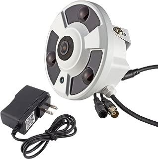Vanxse Cctv 1200tvl Hd Sony Cmos 3pcs Array Leds Ir-cut 1.8mm fisheye Lens Panoramic 360 degree Armour Dome Security Camera Analog Surveillance Camera +DC12V1A Power Adapter Supply