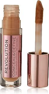 Makeup Revolution Conceal and Define Concealer (Eyeshadow), C10 Brown, 3.4ml