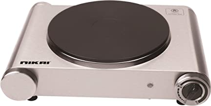 Nikai 1500W Single Electric Hot Plate - Silver NKTOE4N2