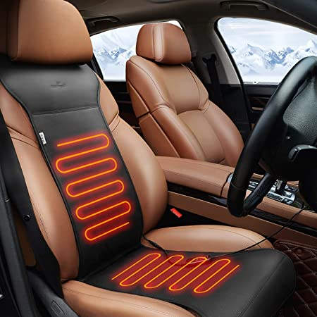 malyituk Car Heated Seat Travel Universal Electric Saddle Heating Graphene 12v Heated Car Cushion Monolithic Plush Winter Warmth for Office Sofa Cushion Seat
