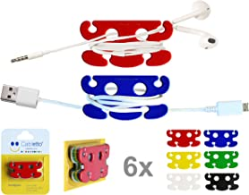 CABLETTO Cord Organizer for Earphones Smartphone USB & Other Cables. 6 pcs 1 Pack