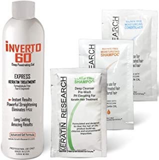 INVERTO 60 Multi-Functional Keratin Hair Treatment Formaldehyde Free Super Fast Application Process includes Starter Keratin Treatment kit Results are Instant delivering healthy Shiny Beautiful hair