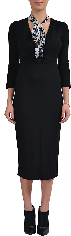 Just Cavalli Women's Black Scarf Decorated Bodycon Dress US US 4 IT 40