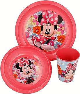 Disney Set Petit d/éjeuner POS 70998/3/pi/èces Verre Bol et Assiette