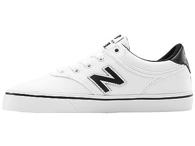 New Balance Numeric 255 (Little Kid/Big Kid) (White/Black) Men