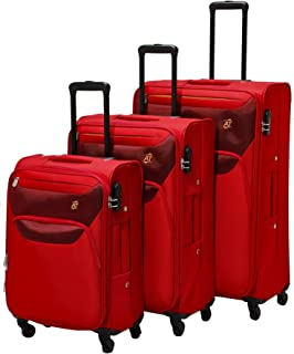 AT by Samsonite 3-Piece Softside Trolley Luggage Set (22, 27 & 31 Inch) - Ruby Red